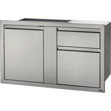 "42"" X 24"" Large Door & Waste Bin Drawer and Waste Bin Drawer , Stainless Steel"