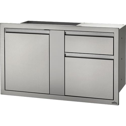 "42"" x 24"" Large Door & Waste Bin Drawer Waste Bin Drawer , Stainless Steel"