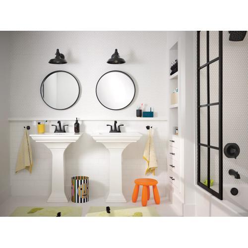 Product Image - Lindor Matte black Posi-Temp ® tub/shower