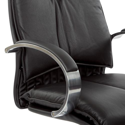 Office Star - Deluxe Mid Back Black Chair