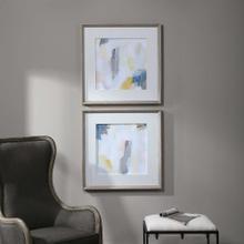 Fractal Pastel Framed Prints, S/2