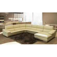 Divani Casa 782C Modern Beige Italian Leather Sectional Sofa