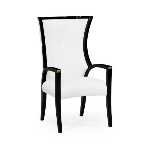 Painted Black Cosmo Dining Armchair