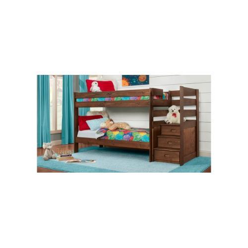 American Wholesale Furniture - Twin/Twin Stairstep Bunkbed