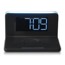 See Details - Wireless Charging Alarm Clock with White Nightlight