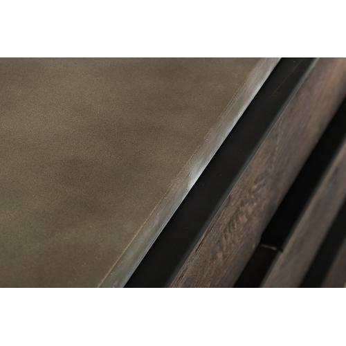 Modrest Selma Modern Dark Aged Oak & Concrete Dresser