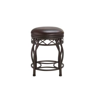 Backless Adjustable Metal Frame Barstool