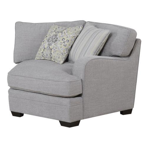 Analiese Rsf Corner Cuddler Chair W/ 2 Pillows Gray