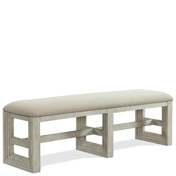 Riverside - Cascade - Upholstered Dining Bench - Dovetail Finish
