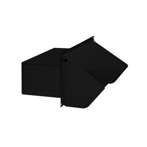 "BEST Range Hoods - Steel Roof Cap for 3-1/4"" x 10"" Duct with Backdraft Damper and Bird Screen, Black"