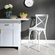 X Back Counter Chair - Antique White Product Image