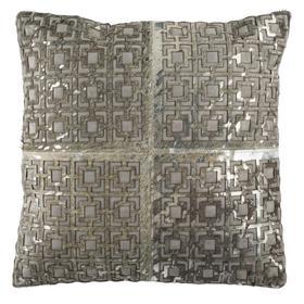 Cami Metallic Cowhide Pillow - Grey / Silver