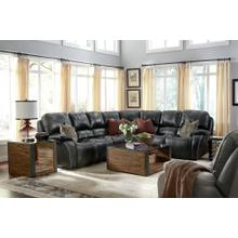 MacKay Leather Power Reclining Sectional