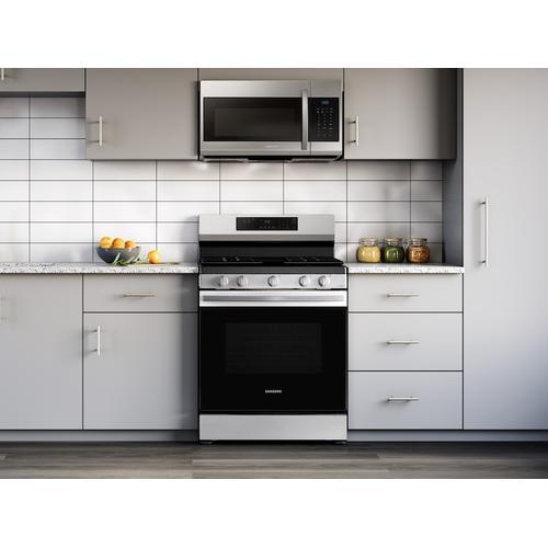 6.0 cu. ft. Smart Freestanding Gas Range with 18K BTU Dual Power Burner & Self Clean in Stainless Steel