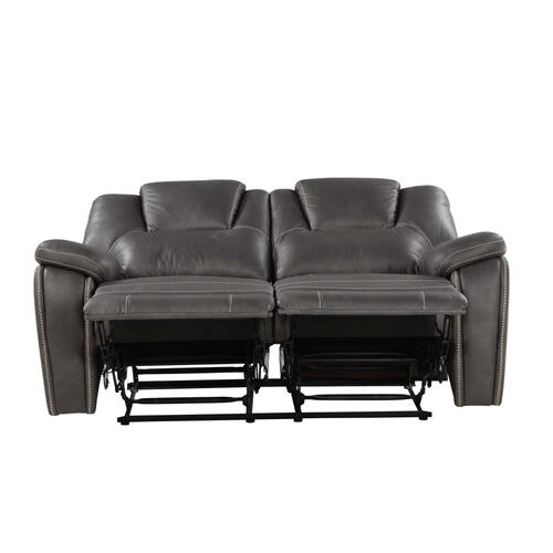 Katrine Manual Motion Loveseat, Charcoal