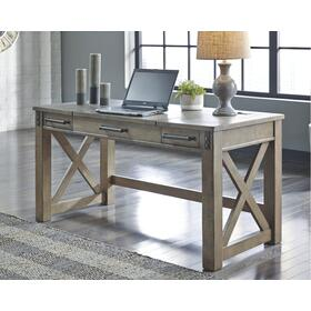 Aldwin Home Office Lift Top Desk Gray