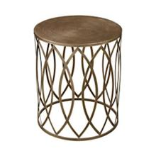 Sutton Accent Table In Gold Leaf