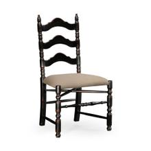 Black Oak Ladder Back Country Chair (Side)