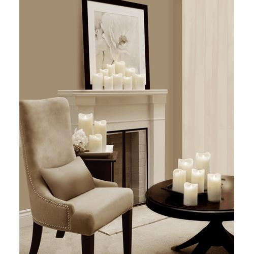 Ivory LED Wax Pillar Candle