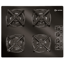 "Black 24"" Gas on Glass Cook Top"