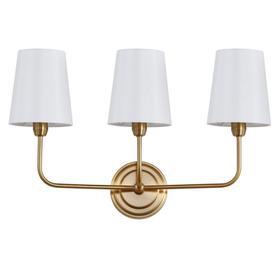 Sawyer Three Light Wall Sconce - Brass Gold