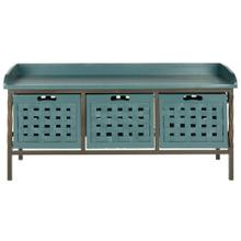Isaac 3 Drawer Wooden Storage Bench - Teal