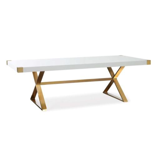 Product Image - Adeline White Lacquer Dining Table