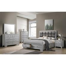4pc Silver Queen Bedroom Set