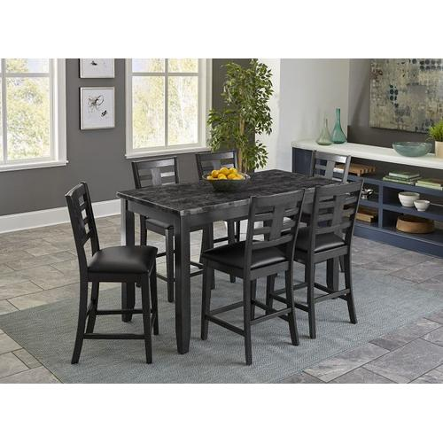 Gallery - Canaan Counter Height 4-Pack, Grey