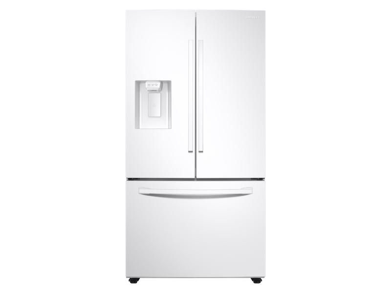 Samsung27 Cu. Ft. Large Capacity 3-Door French Door Refrigerator With External Water & Ice Dispenser In White
