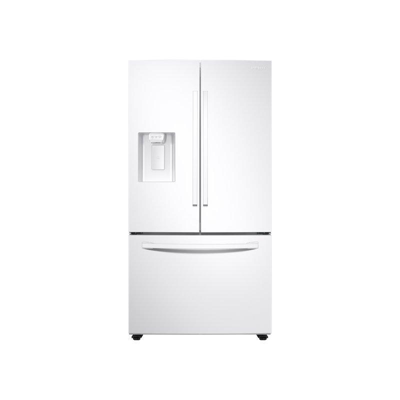 27 cu. ft. Large Capacity 3-Door French Door Refrigerator with External Water & Ice Dispenser in White