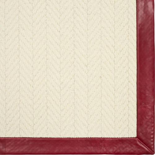 Alderney Whisper 8'x10' / Leather Border