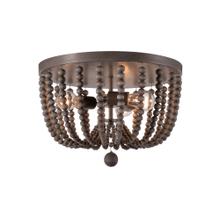 Dumas - 3 Light Wood Bead Flush Mount