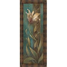 """Turquoise Flower I"" Framed Print Wall Art"