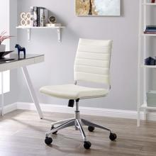 See Details - Jive Armless Mid Back Office Chair in White