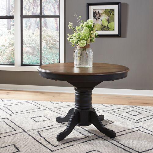 Liberty Furniture Industries - Pedestal Table Set- Black