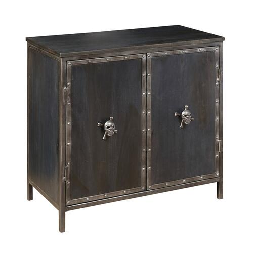 Legion Two Door Accent Chest with Skull Hardware