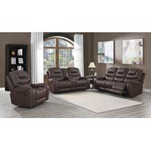 Austin Chocolate (Sofa & Love) Pwr/Pwr Recliner