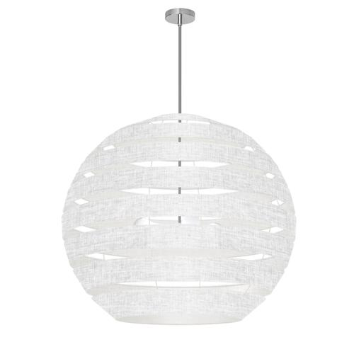 Product Image - 4lt Chandelier Pc, Wh/clr Shade