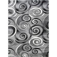 DA-414 GRAY Abstract Small Swirl Rug
