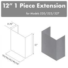 """ZLINE 12"""" Chimney for 36"""" Under Cabinet Hoods (520/523/527-36-1FTEXT)"""
