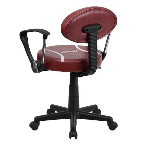 Gallery - Football Swivel Task Office Chair with Arms