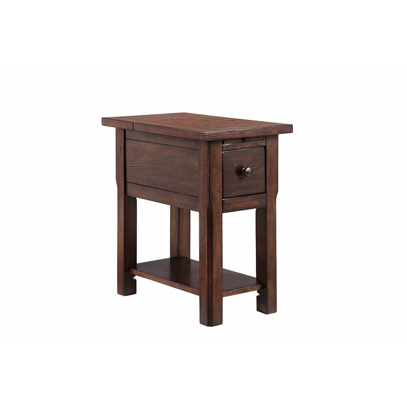 Stonebridge 1-drawer Chairside Table In Rich Finish