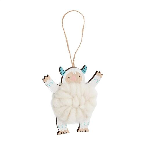 "3.5""x 1.25""x 3.75"" Yeti Cuddle Ornament (Arms Up Option)"