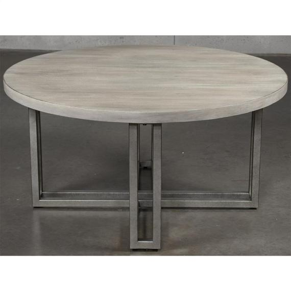Riverside - Adelyn - Round Coffee Table - Crema Gray Finish
