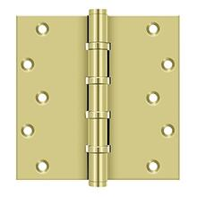 "6"" x 6"" Square Hinges, Ball Bearings - Polished Brass"