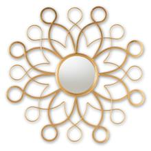 See Details - Baxton Studio Cymbeline Modern and Contemporary Antique Gold Finished Round Accent Wall Mirror
