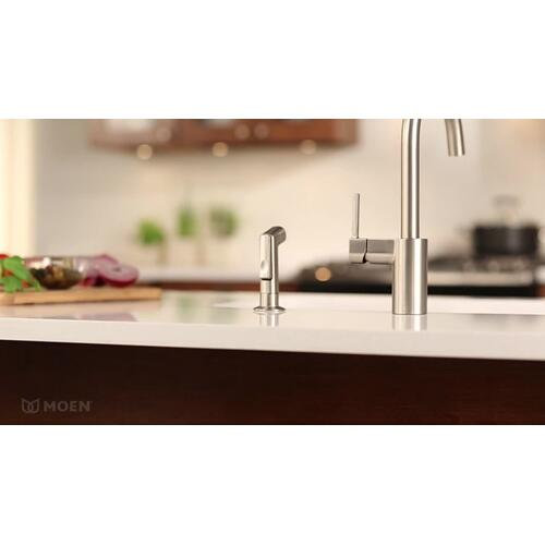 Align Chrome one-handle high arc kitchen faucet