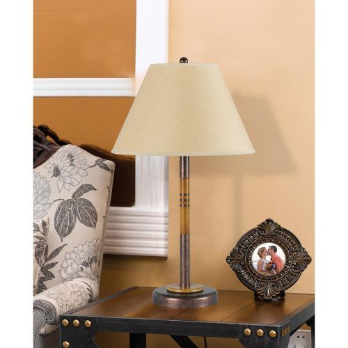 Cal Lighting & Accessories - 100W Soho Metal Table Lamp