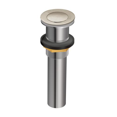 Moen - Moen Brushed Nickel Spring Loaded Push Button Bathroom Drain Assembly (with overflow)